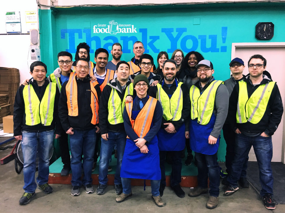 Volunteering at the Vancouver Food Bank