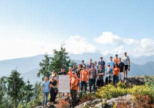 Staff Meeting on Dog Mountain